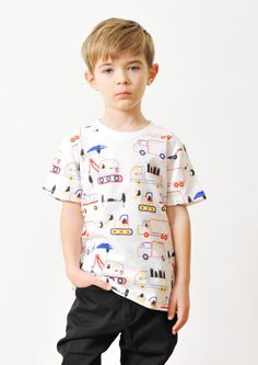 Kids Beautiful Shadow Short Sleeve Tee (Vehicles Beautiful Shadow) Kids Nightwear, Kids Patterns, Kids Fashion Boy, Kids Prints, Boys Shirts, Kids Wear, Cute Boys, Boy Outfits, Child