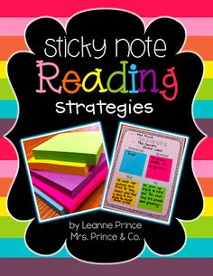 mrs. prince & co.: Visual Plans and Sticky Note Reading Strategies!