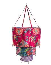 PRINTED SHADE skjerm fuchsia Bohemian Decor, Boho, Gypsy Style, Color Patterns, Indie, Chandelier, Tapestry, Shades, Ceiling Lights