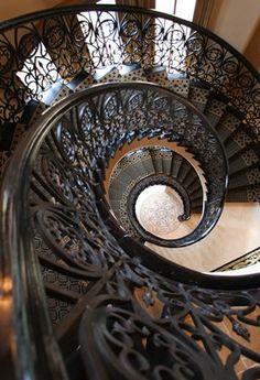 ღღ Wrought Iron Staircase by Cantera Doors