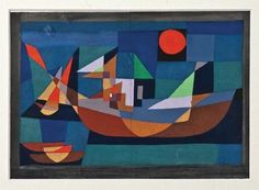 Paul Klee, Untitled ->make a similar style with collage,w/painted papers.