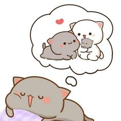 Peach and Goma are two cute cats. who is also a cute couple? They are loved widely by a large audience and they become synonyms of love following their friend Roco and eve who are dogs by the way. Well by virtue of our page you will get some good Kawaii drawings, Love couple quotes, and other Kawaii stuff. #pictures #couplegoals #mad #couplecomic #couplememes #memes Cute Anime Cat, Cute Bunny Cartoon, Cute Kawaii Animals, Cute Cartoon Pictures, Cute Love Pictures, Cute Love Cartoons, Cute Cat Gif, Cute Cats, Cute Doodle Art