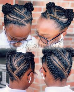 See 31 GORGEOUS braid hairstyles for Black women and kids. You'll get NEW ideas and updos for Black braided hair. Box braids hairstyles for girls & much more. Natural Cornrow Hairstyles, Little Girl Braid Hairstyles, Toddler Braided Hairstyles, Little Girl Braids, Natural Hair Braids, Baby Girl Hairstyles, Natural Hairstyles For Kids, Braided Hairstyles For Black Women, African Braids Hairstyles