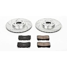 OE Replacement Rotors Ceramic Pads F 2000 Buick LeSabre w//16/'/' OE Whls