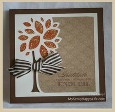 My Scrap Happy Life: Huntington papers and the Artbooking Cricut Cartridge equal pretty fall cards!