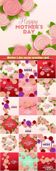 Mother's day vector greeting card