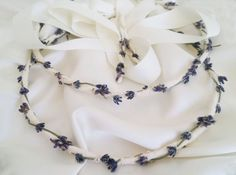 Bohemian style wedding crown Lavender boho stefana head | Etsy Greek Wedding, Wedding Day, Wedding Crowns, Orthodox Wedding, Bohemian Style, Boho, Bridal Crown, Wedding Matches, White Ribbon