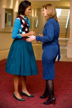 Michelle Obama in Royal Opera House, Junya Watanabe outfit