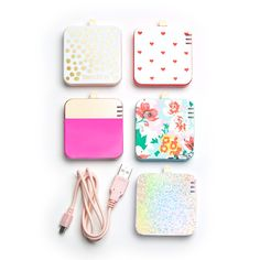 Destination Bachelorette party favor idea - cute portable phone chargers {Courtesy of ban.do}