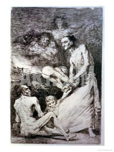 "Blow, Plate 69 of ""Los Caprichos,"" 1799 Giclee Print by Francisco de Goya at Art.com"