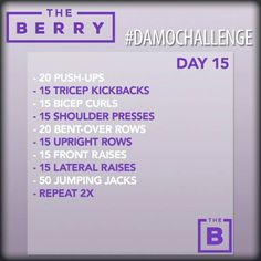 the BERRY theBERRYwa DaMoChallenge Workout Fitness