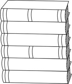 Black and White Stack of Books