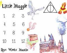 Baby Milestone Blanket, Personalized Harry Potter Baby Blanket, Baby Boys, Baby Girls, Baby Shower Gift, Potter Nursery,
