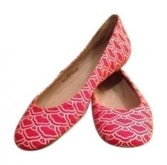 Diane Von Furstenberg Red And Off White New In Box Dvf Flats $75