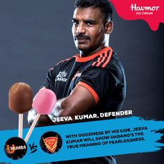 The #Goodness of #Havmor will give U Mumba's fearless #defender, #JeevaKumar the drive he needs in today's match against Dabang Delhi Kabaddi Club.