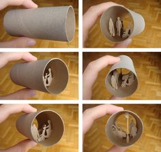 Paper cuts - Rolls  toilet paper roll!      PROJECT BY:  Anastassia Elias