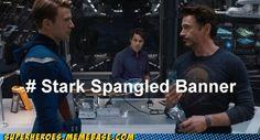 get it? tony stark.. captain america (spangled).. bruce *banner*