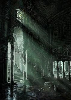 """Hall of Miracles """"No one has set foot in the Hall of Miracles since the age of the Dragons. This place should never had been found."""" From pixieface.deviantart.com"""