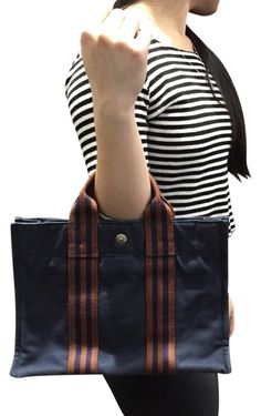 Canvas Blue Red Stripe Satchel Mini Hand Navy / Burgundy Tote Bag – Bagriculture