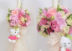 A-lumanare botez hello kitty flori botez petalia design eveniment