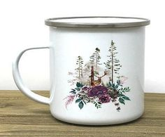 Deer Camp mug, campfire mug, deer lover, cute mug, coffee mug, camping mug, personalized mug, hiker gift, tea, rv
