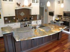 Modern Kitchen Design With Gray Granite Countertops With Granite Countertop Edges Ogee Ideas