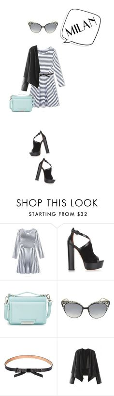 """""""Pack and Go: Milan"""" by mfardilha ❤ liked on Polyvore featuring WithChic, Aquazzura, Vince Camuto, Jimmy Choo, Michael Kors, Packandgo and beautifulhalo"""