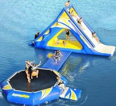 Wouldn't this be fun!? With as much work as it would take to inflate that, I'd want to keep it inflated at the lake for a few days atleast.