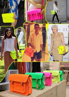 Obsessed!! Want a Neon #CambridgeSatchel stat!#purses