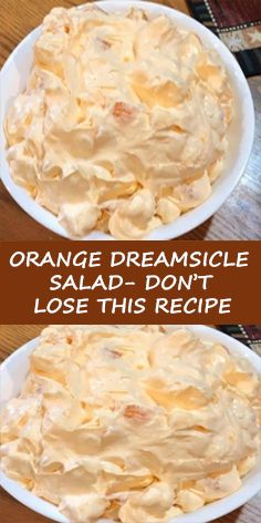 Ingredients: 1 box orange Jell-O 1 box instant vanilla pudding 1 cup boiling water cup cold water 1 Cool Whip 8 oz. 1 can mandarin oranges 14 oz. , drained 1 cup mini marshmallows Instructions: In a large bowl combine orange Jell-O and Fluff Desserts, Jello Desserts, Dessert Salads, Jello Recipes, Fruit Salad Recipes, Ww Recipes, Cooking Recipes, Fruit Salads, Recipies