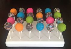 Neon Cake Pops by TheCakeBallerina on Etsy