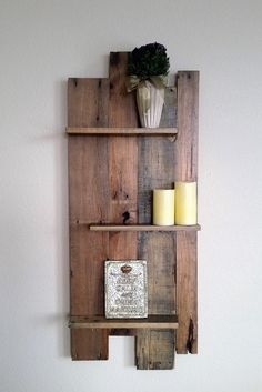 Pallet Wall Shelf by AwareRusticCreation on Etsy