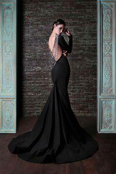 Rami Kadi 2014 black wedding gown