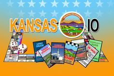Kansas IO is a board game about the GREAT state of Kansas!  Kansas (KAN-zas) is a state located in the Midwestern United States. Buy and trade some of your favorite Kansas Cities and Landmarks while you learn more about the 34th state of the United States of America. http://www.opoly.io/