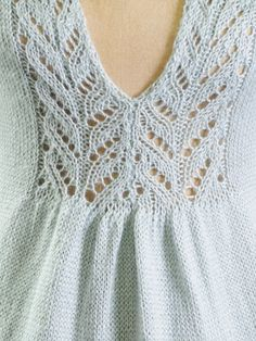Lace Insertion of the Sylvia Sweater, designed by Sylvia Häger. Knit with Blue Sky Alpacas Alpaca Silk yarn Lace Knitting Patterns, Knitting Stitches, Knitting Designs, Knitting Projects, Hand Knitting, Pulls, Knit Crochet, Couture, Lake George