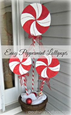 Holiday Lollipop Decorations