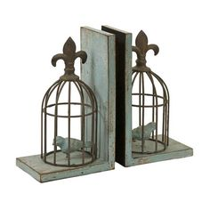 Birdcage Bookend (Set of 2)