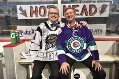 Gay couple get married in pro hockey arena, with a priest referee and Zamboni cake - Outsports