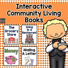 4 community skills interactive books that focus on skills students will need out in the community. The books sequence and describe what they will do at the different place. The books are ideal for special education classrooms, life skills programs, speech therapists and hands on learners.