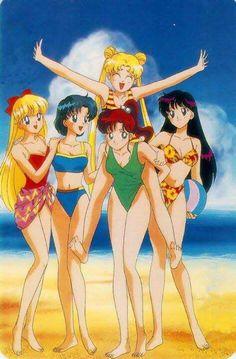 Sailor moon at the beach