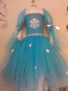 Frozen inspired Tutu dress 610 years by MMLCreations on Etsy, $65.00