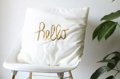 DIY // Sequined Hello Pillow (and Ikea event recap!)