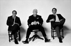 French icon from the cinema. Lino Ventura, Jean Gabin and Alain Delon.