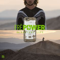 Our FRĒ Power case is now available! At some point in every adventure, your body — and phone — hits the wall. With 2x battery life and our four proof protection, FRĒ Power refuels your phone while you find your second wind.