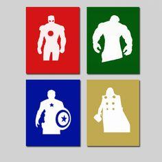 The Avengers (Iron Man, Hulk, Captain America, Thor)