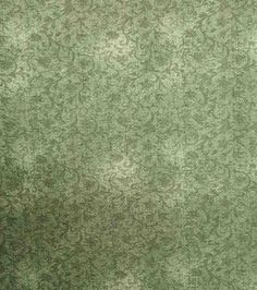 Two Daughters™ Cotton Fabric-Faded Leaves And Vines Scroll