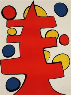 """Christmas Tree by Alexander Calder, ca.1970. Lithograph in colours, 30.5 х 22.75"""" (77.47 x 57.78 cm)"""