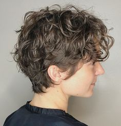 Messy Pixie Hairstyle for Curly Hair