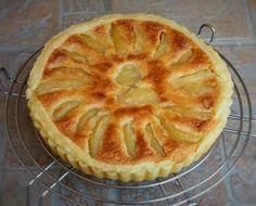 Tarte crème amande pommes pochées2
