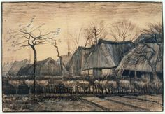 Vincent van Gogh 'Thatched Roofs', 1884